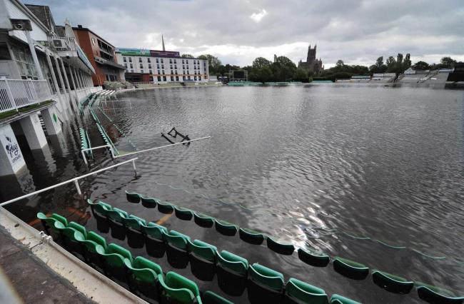 Flooding at Worcestershire's ground means county cricket is coming back to Kidderminster. Picture: Jonathan Barry