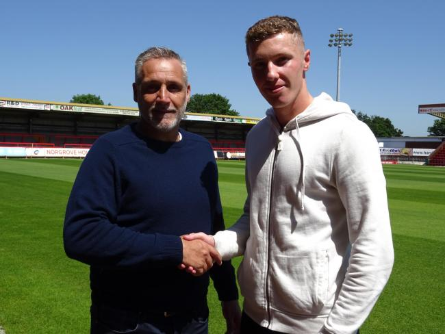 Alex Prosser with manager John Pemberton