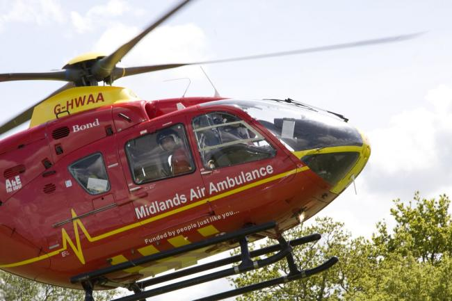 The Midlands Air Ambulance from Cosford was called out to the scene of the crash in Stourport