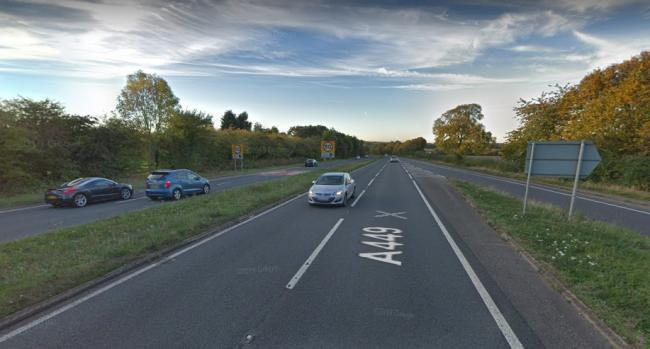 The A449 at Ombersley was closed after the crash. Photo from Google Maps