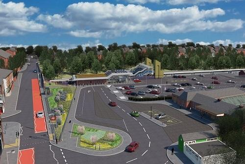 An artist's impression of the new Kidderminster Station