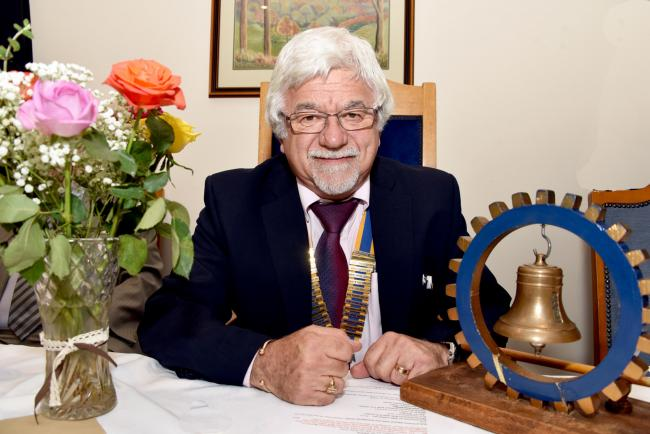 New Rotary Club president Michel Gaud. PIC: Colin Hill