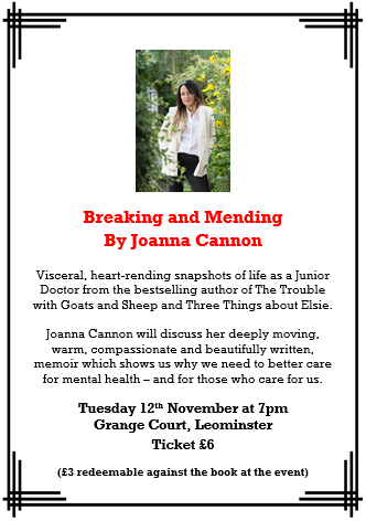 Joanna Cannon Book Talk