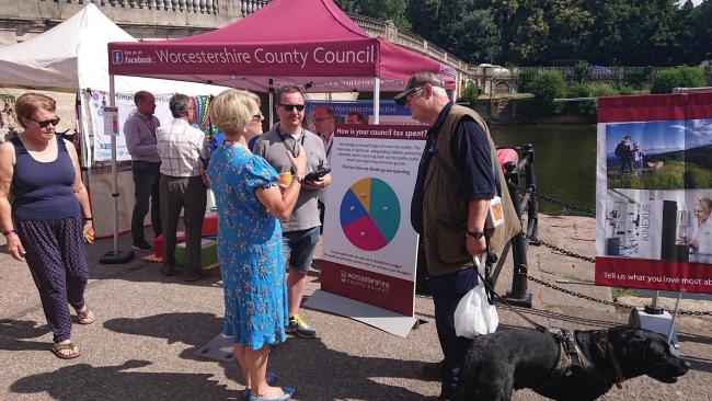 A previous Worcestershire County Council roadshow