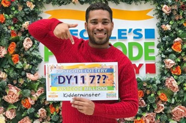 Danyl Johnson announcing that the latest People's Postcode Lottery winners are in Kidderminster