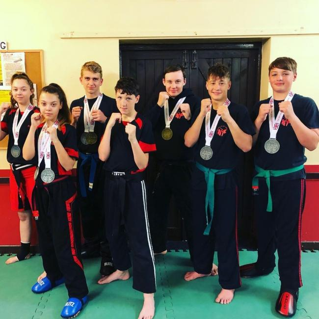 The team from Stourport Kickboxing Club