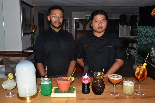 Aurora bar manager Paris Scarlett and bar supervisor T Wirun