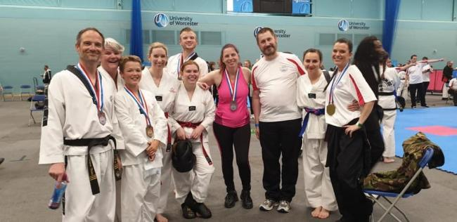 The team from Wyre Forest Taekwondo