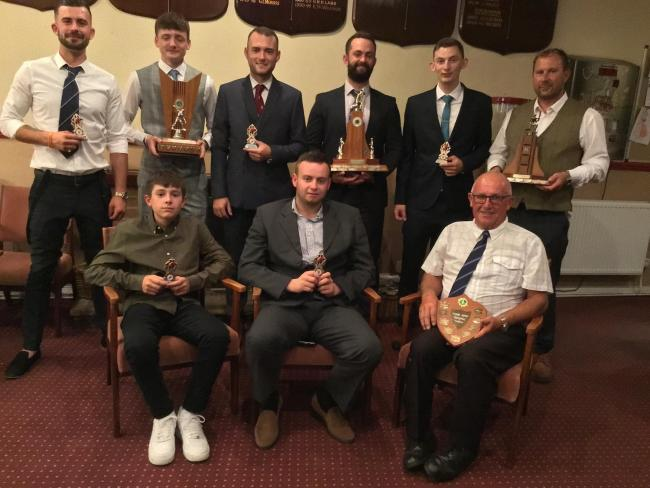 KCC award winners: (back from left) Connor Smith, Elliot Small, James Williams, Neil Pinner, Ryan Field and Damon Dawson. (Front from left) Tom Powell, Leon Burke and Chris Longmore.