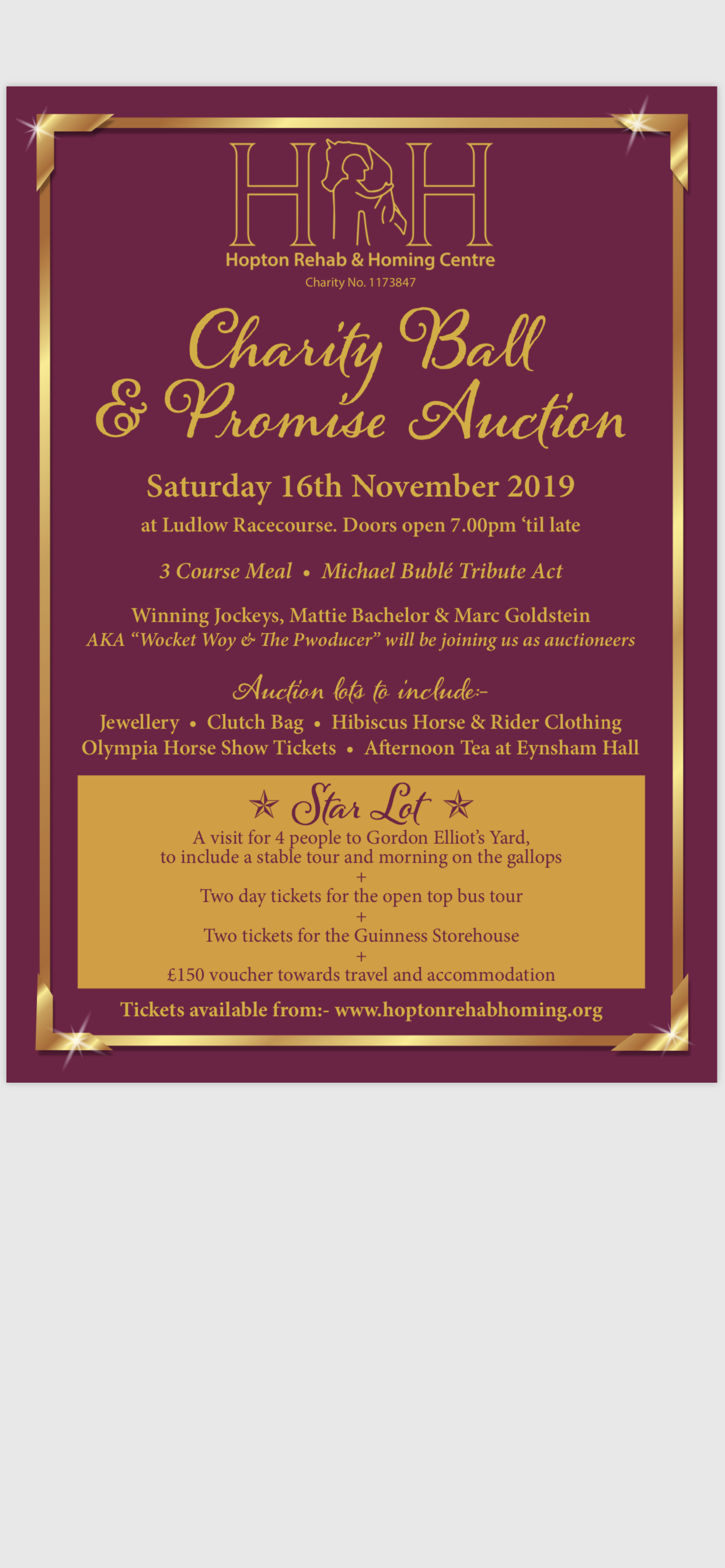 Hopton Rehab & Homing Centre Annual Charity Ball