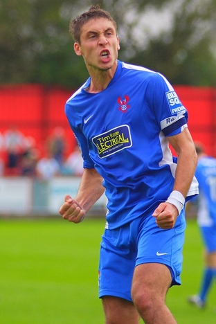 Chris McPhee celebrates his goal against Tamworth earlier in the season.