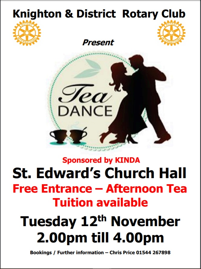 Tea dance and afternoon tea in Knighton