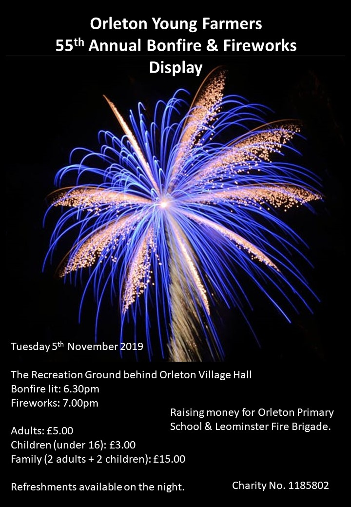 Orleton YFC Annual Bonfire & Fireworks Display