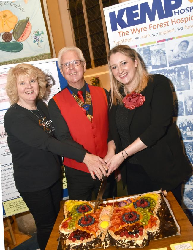 Sue Dutton, Slimming  World, Malcolm Horwood, Kidderminster Male Choir and Coralie Hudson KEMP. PIC: Colin Hill