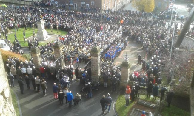 Last year's Remembrance Day service at St Mary's Church in Kidderminster