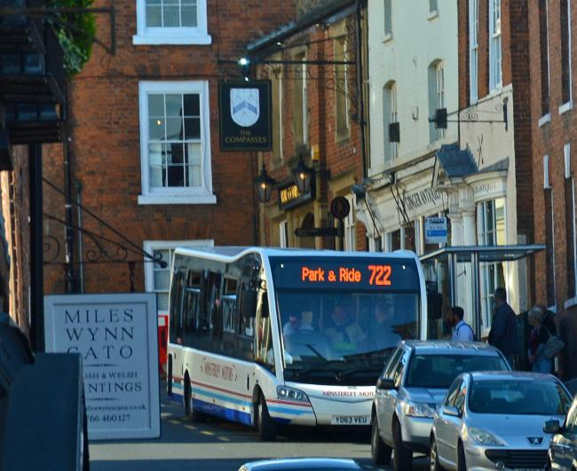 The service links Kidderminster to Ludlow