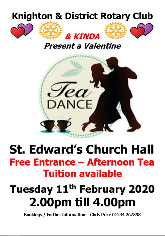 An Valentine's afternoon tea and dance in Knighton Free entry