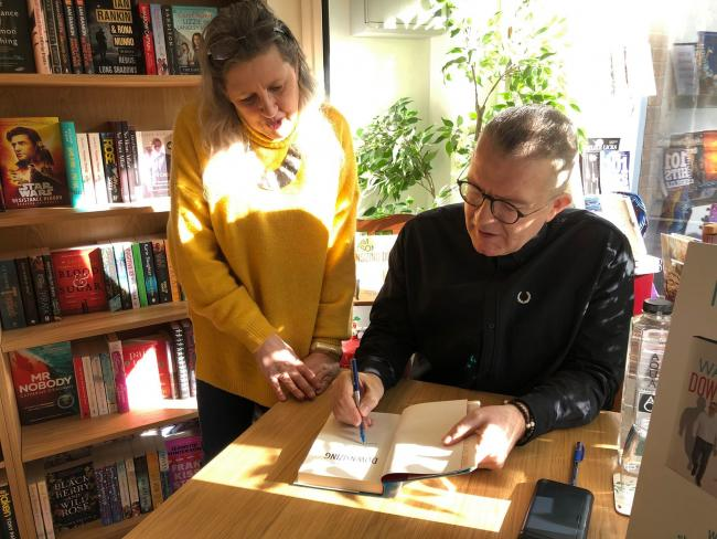 Former Labour deputy leader Tom Watson signed copies of his weight loss book Downsizing at Wyre Forest Books in Bewdley