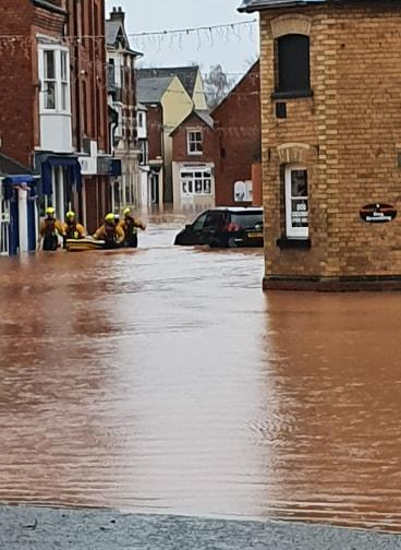 Storm Dennis flooding in Tenbury Wells yesterday (Sunday, February 17). Picture: Picture: Cindy Jayne Bufton