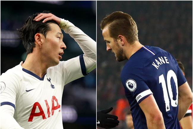 Son Heung-min (left) and Harry Kane