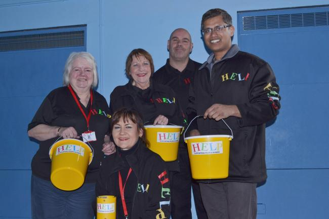 HELP founder Dave Griffin, volunteer Jo Ridsdill-Wardle and trustees Fran Oborski, Mary Rayner and Shazu Miah