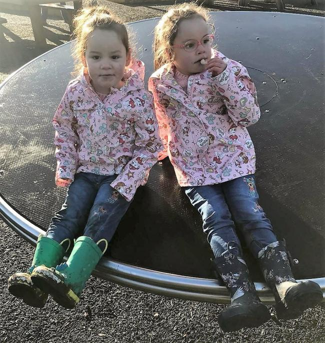 Summer and Meadow Lockey. Picture: Lockley family