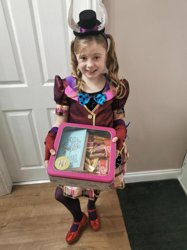 World Book Day Mad hatter Amber Jones Age 8 Bewdley Primary School