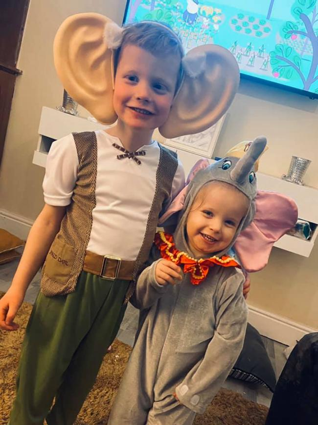 Tommie-Jay aged 5 dressed as the BFG & attends st johns primary school. Dottie-Mae aged 2 she doesn't go nursery but wanted to dress up as well
