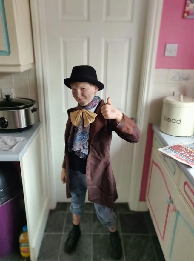 Carsen as Dodger from Oliver twist