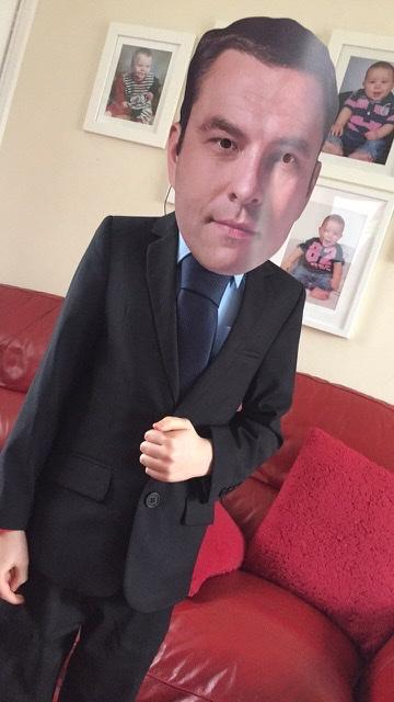AJ Breakwell as David Walliams from Franche Primary School