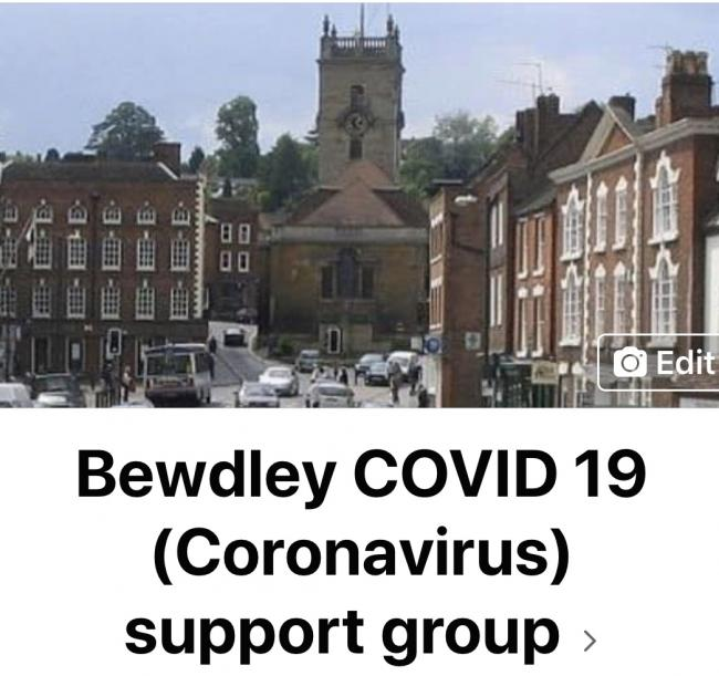 Bewdley COVID 19 (Coronavirus) Support Group  This is a local group set up to provide support for those who are self-isolating or concerned about leaving their homes. Run by Bewdley residents, it offers help with things like obtaining urgent supplies and groceries, collecting medicine, and sending post. If people are feeling isolated and need someone to talk to, a friendly phone call is on offer too.   Leaflets are being distributed with a form for people to fill in if they need support. There's also a Facebook group where people can post a request, or volunteer to help.  https://www.facebook.com/groups/233427034477240/?ref=  or search for Bewdley COVID 19 (Coronavirus) Support Group. For further information, contact Corinne Bailey (07533 185734) or Helen Mosley (07813 321 304).