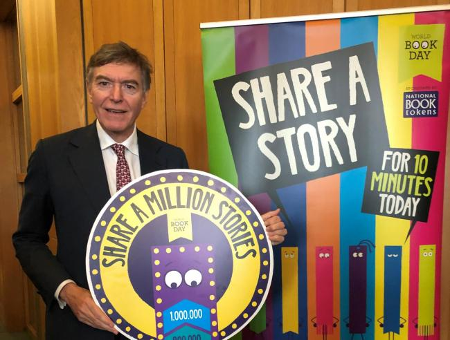 Ludlow MP Philip Dunne who was a bookseller before becoming an MP wants more children to enjoy reading.