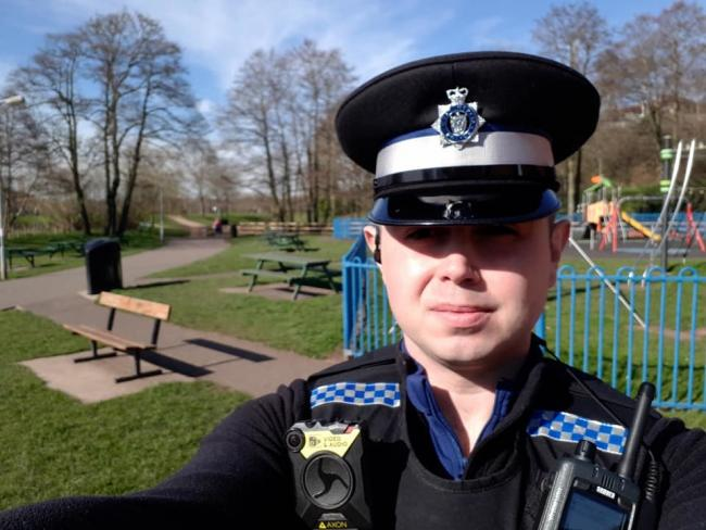 PCSO Luke Holloway. Photo from Wyre Forest Police