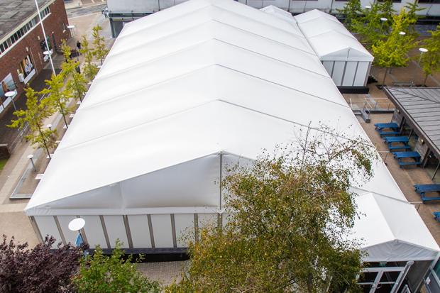 An example of a marquee that Fews Marquees says could act as a temporary hospital for the NHS.