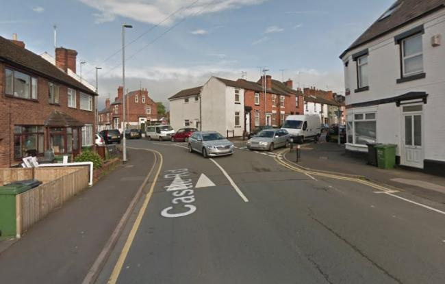 A diesel spillage is affecting roads in Kidderminster town centre. Photo of Castle Road from Google Maps