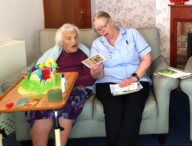 Dozens of letters, cards and pictures have been sent to residents at Doddington Lodge care home following an appeal on Facebook