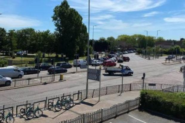 Cars queuing at around 1pm in Watford. Credit: Artan Selimi