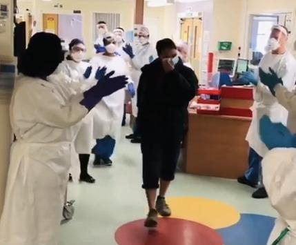 In an emotional moment, Michael walked out of the Ward 1 after spending 29 days fighting the virus