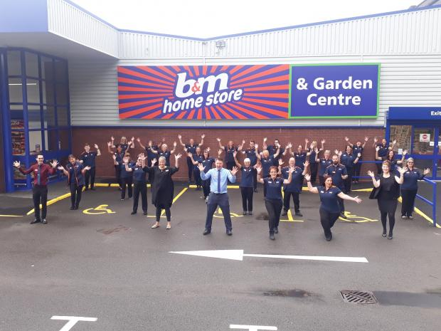 Kidderminster Shuttle: The team at Kidderminster's brand new B&M