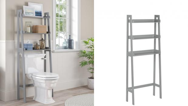 Kidderminster Shuttle: Over-the-toilet units provide a lot more storage space. Credit: Wayfair