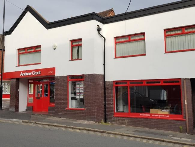 Estate agents Andrew Grant has closed its office in Worcester Street, Kidderminster. Photo from Google