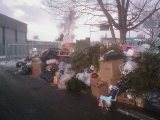 Furious reaction: Rubbish dumped by residents outside the Hoobrook Industrial Estate tip in Kidderminster.