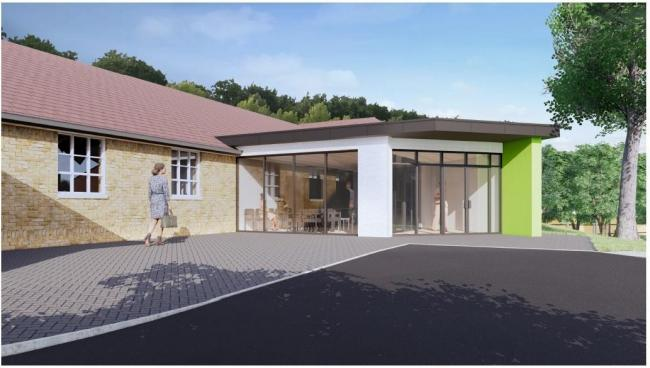 An artist's impression of the proposed extension to the Worcestershire Breast Unit at Worcestershire Royal Hospital