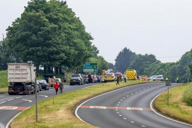 Kidderminster Shuttle: The A449 was closed near Stourport after the crash in May 2018