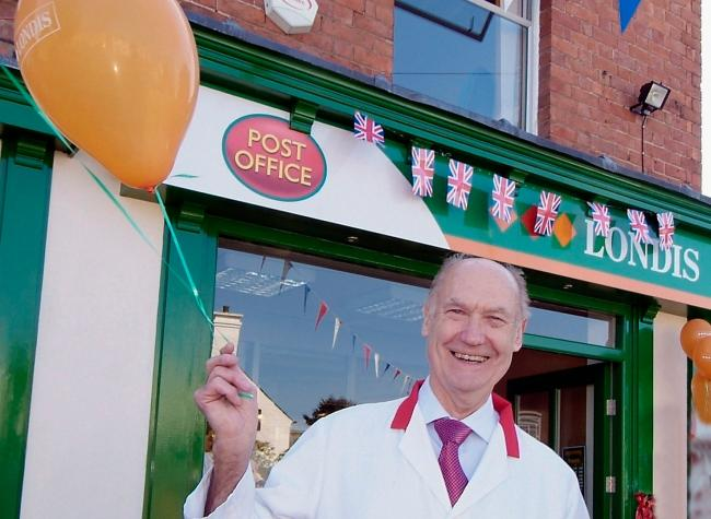 Jim at the opening of his new supermarket in Areley Kings in 2006