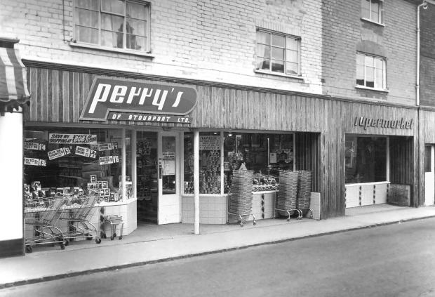 Kidderminster Shuttle: The Perry's Lombard Street store in 1950