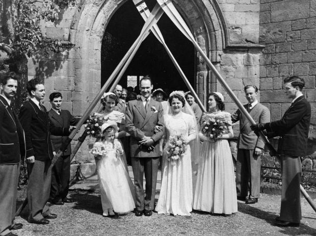 Kidderminster Shuttle: Jim and Val on their wedding day in 1952