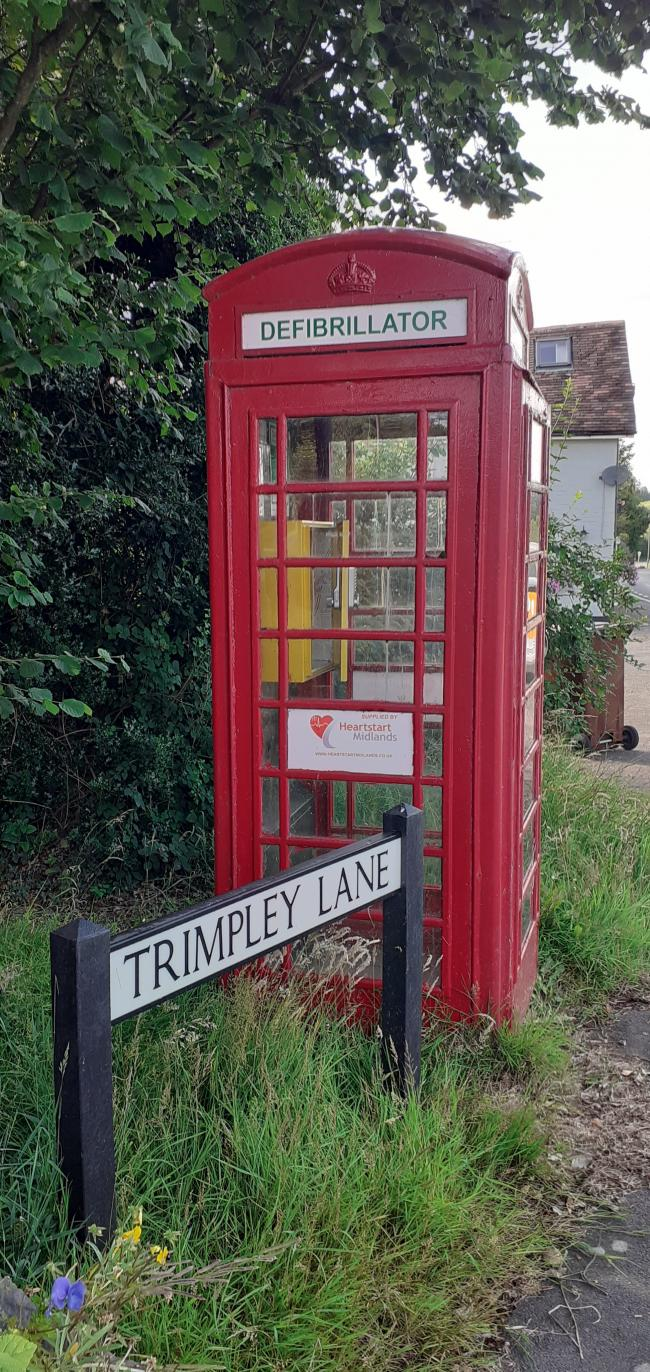 The defibrillator was forcibly removed from its case inside a telephone box at Shatterford