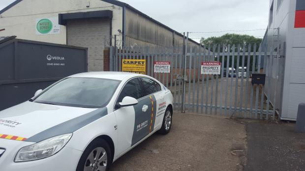 Kidderminster Shuttle: Priority Security Group's headquarters at Sandy Lane Industrial Estate in Stourport