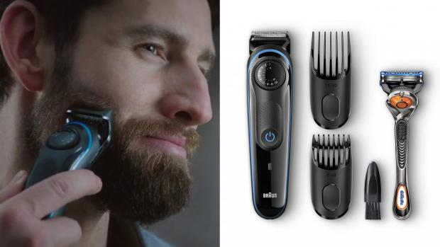 Kidderminster Shuttle: This Braun trimmer comes with a variety of accessories to help you clean your edges perfectly. Credit: Braun